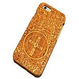 cereza cruz de madera tallada John Constantine exorcismo caso del iphone dura cubierta trasera protectora para el iPhone se / iPhone 5s /