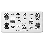 BlueZOO Rectangle Printing Nail Art Stamping (C-010)