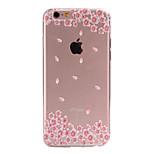 caso telefono sottile materiale TPU fiori rosa modello per 6S iphone plus / 6 plus / 6S / 6