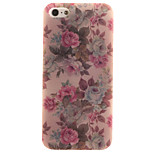 TPU Material + IMD Crafts Perfect Fit Helium Peony Pattern Cellphone Case for iPhone 5/5S/ SE