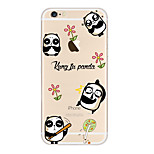 Kakashi Little Fresh Series TPU Painting Soft Case for iPhone 6s / 6 /6s Plus / 6 Plus(Panda)