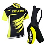KEIYUEM®Others Unisex Short Sleeve Spring / Summer / Autumn Cycling Clothing bib suits/ Breathable Quick Dry#6