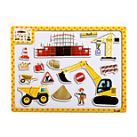 Children's Cartoon Puzzle Magnetic Wooden Tuba Puzzle Toys-The hospital
