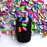 1 Pack Include 5 Mixed colors Nail Art Rectangular Glitter Riveting DIY Nail Art Decoration NC217