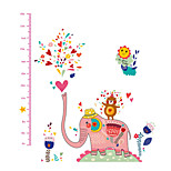 Wall Stickers Wall Decals, Fashion Cartoon Water Spray Elephant Children Height PVC Wall Sticker