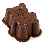 Random Color 1PCS Bear Shape Silicone Mold for Jelly, Chocolate, Soap Cake Decorating DIY Kitchenware ,Bakeware