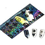 1pcs 100 * 4cm transparent Halloween citrouille fantôme belle image aminal ongles art glitter stickers décoration des ongles hw01-04