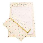 Fresh romantic love letter 6 letter +3 envelope (random pattern, 17.5*11CM envelope, letter 18.6*26CM)