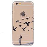 caso trasero transparente suave patrón de la fe de TPU para el iPhone 6s 6 más