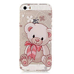 TPU Bear Pattern Transparent Soft Back Case for iPhone SE 5s 5