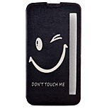 Smile Painted Voltage Holster PU Material Clamshell Phone Cover for LG G5/K10