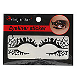 Abstract Fashion Lace Hollow Black Face Sticker YT-018