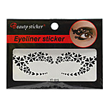 Abstract Fashion Lace Hollow Black Face Sticker YT-015