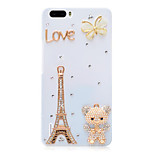 Rhinestone Hard Back Cover for Huawei Honor 6Plus(white tower bear)