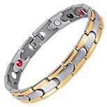 Healing Magnetic Bracelet Men/Woman 316L Stainless Steel Magnetic Silver Bracelet Hand Chain OSB-028