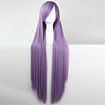 Europe And The United States The New Color Wig 100 CM High Temperature Silk Light Purple Long Straight HairWig