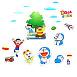 Kindergarten Cartoon Cat Wall Stickers Removable Children's Bedroom Family Wall Decals PVC