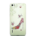 Ultra-thin Cartoon Protection Matte Relief For Huawei honor6(Flowers High Heels)