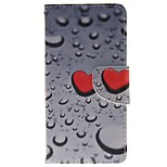 Heart-shaped Water Droplets Card Holder Wallet PU Leather Phone Case for Huawei P9/P9lite