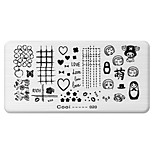BlueZOO Rectangle Printing Nail Art Stamping (C-020)