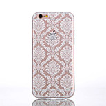 TPU White Palace Flower Transparent Back Phone Case for iPhone 6s 6 Plus