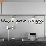 AYA™ DIY Wall Stickers Wall Decals, Wash Your Hands PVC Wall Stickers