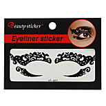 Abstract Fashion Lace Hollow Black Face Sticker YT-007