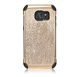 Wire Lines Electroplating Pattern Back Cover Hard PC+Soft TPU Armor Protective Phone Case For Sumsung Galaxy S7/S7edge