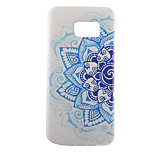 Back Pattern Mandala Pattern TPU Soft Blue Case Cover For Samsung Galaxy S7 edge plus / S7 edge / S7