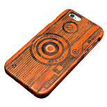 Pear Wooden Camera Carving Protective Back Cover Hard iPhone Case for iPhone SE/iPhone 5S/iPhone 5