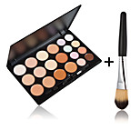 20 Colors Contour Face Cream Makeup Concealer Palette + 1 PCS High Quality Powder Brush