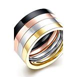 lureme® Stainless Steel Finger Rings for Teen Girls 4 Pcs A Set Promise Ring Eternity