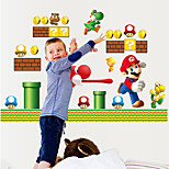 Cartoon Kindergarten Wall Stickers Environmental Kids Children's Bedroom Wall Decals PVC