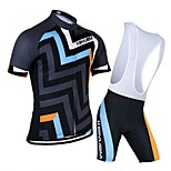 KEIYUEM Bike/Cycling Clothing Sets/Suits Unisex Short SleeveBreathable / Quick Dry / Dust Proof / Wearable / Back Pocket / Stretch /