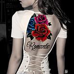 Fashion Large Temporary Tattoos Romantic Sexy Body Art Waterproof Tattoo Stickers 2PCS  (Size: 5.71'' by 8.27'')