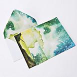 Watercolor night letter set envelope (2 envelope 4 stationery, stationery envelope 16.2*11.4CM, 15.9*22CM, random color)