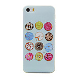 Colored Sweet Cake Pattern TPU Soft Case Phone Case for iPhone 5/5S/SE