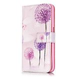 PU Leather Embossed Dandelion Wallet Case with 9 Card Slots for iPhone 6s 6 Plus