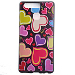 TPU Material Little Love Black Slim Painted Soft cellphone Case for Huawei Ascend P9/P9 Lite