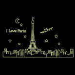 Luminous Paris Eiffel Tower Building Architecture Luminous Wall Stickers PVC Environmental Bedroom Wall Decals