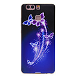 TPU Material Purple Butterfly Pattern Slim Phone Case for Huawei P9 Lite/P9