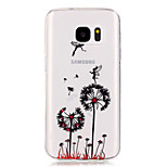 Dandelion Pattern High Permeability TPU Material Phone Case for Samsung S5/S6/S7/S6 edge/S7 edge
