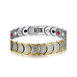 Men's Jewelry Health Care Silver Titanium Steel Magnetic Bracelet
