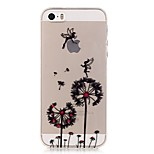 TPU High Purity Translucent Openwork Dandelion Pattern Soft Phone Case for iPhone 5/5S/ SE