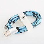 Quick Charge Aluminum USB 2.0  Charger Cable Cord for Samsung Android Smartphone General Cable (1.0 M)