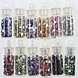 1set 12 Colors New Small Bottle Nail Art Resin Jewelry Colorful Colors Design Nail Art DIY Decoration NC318