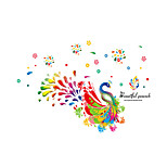 Wall Stickers Wall Decals Style Colorful Peacock PVC Wall Stickers