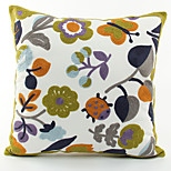Flowers And Plants Pattern Canvas Pillowcase  Home Decor pillow Cover (18*18inch)