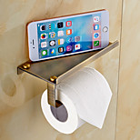 Polished Brass Finishing Solid Brass Material toilet paper holder bathroom mobile holder toilet paper holder