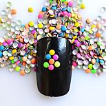 1 Pack Include 5 Mixed Colors Nail Art Round Glitter Riveting DIY Nail Art Decoration NC219